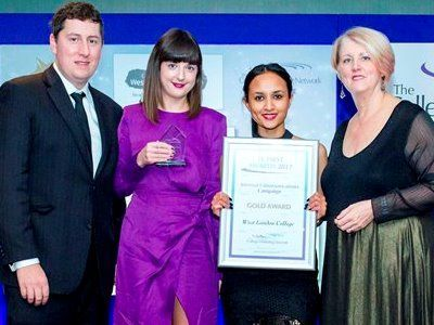 FE First Awards 2017, College Marketing Network, Internal Communications Gold, West London College