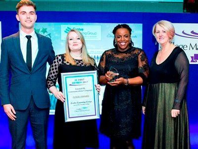 FE First Awards 2017, College Marketing Network, External PR/Communications Gold, Evolve Learning Group, West London College