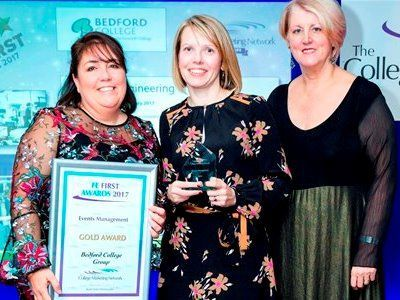 FE First Awards 2017, College Marketing Network, Events Management Gold, Bedford College Group