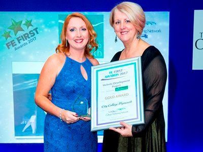 FE First Awards 2017, College Marketing Network, Website Development Project Gold, City College Plymouth