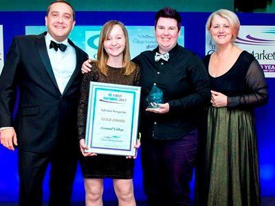 FE First Awards 2017, College Marketing Network, Full-time Prospectus Gold, Cornwall College