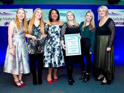 FE First Awards 2017, College Marketing Network, School Leaver Recruitment Campaign Gold, West London College