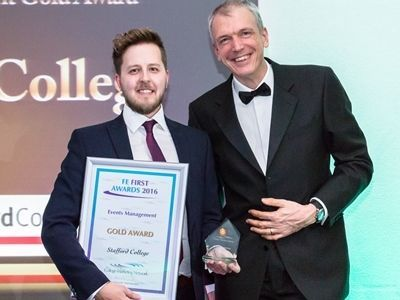 College Marketing Network, FE First Awards 2016, Stafford College, Events management Gold