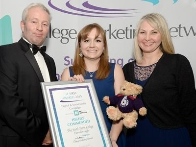 College Marketing Network, FE First Awards 2015, The Sixth Form College Farnborough
