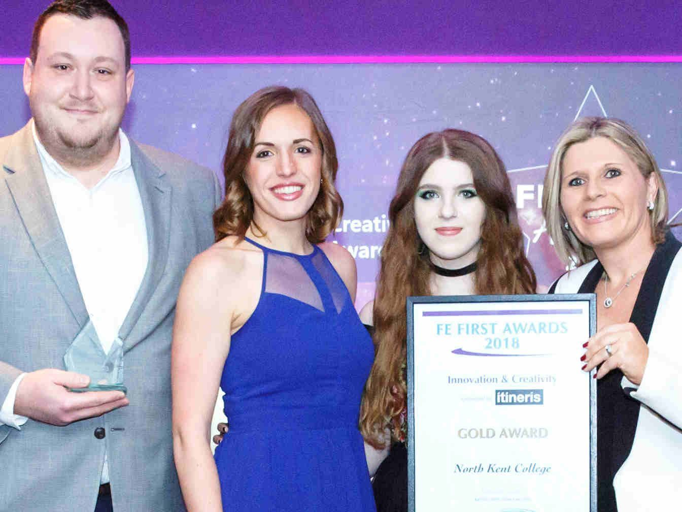 FE First Awards 2018, College Marketing Network, North Kent College