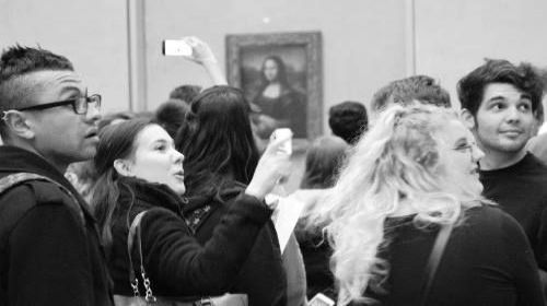 Shrewsbury College students at the Louvre