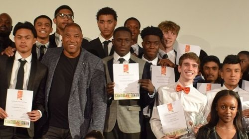 John Barnes at Haringey Sixth Form College's Sports Awards 2019