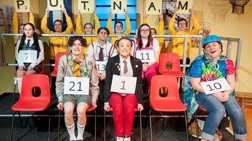 Last performance of 25th Annual Putnam Spelling Bee at Pendleton Sixth Form College
