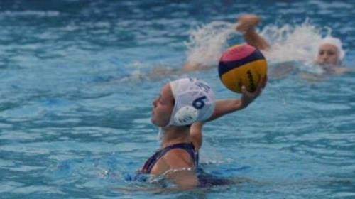 Emma-Rose Eastwood and the Great Britain's U18s Women's Water Polo team