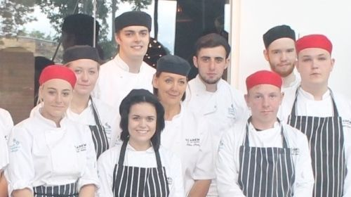 South Cheshire College's catering team