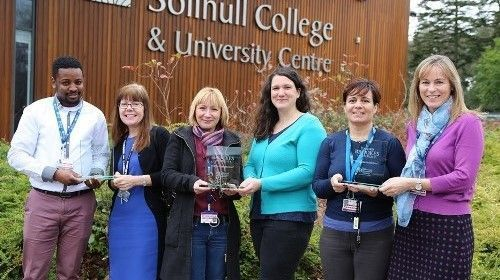 Teaching team at Solihull College & University Centre: (L-R) Idris Sidique, Lorraine Mathers, Claudine Barnes, Clare Longstaf, Andrea Rathbone & Keri Lanyon
