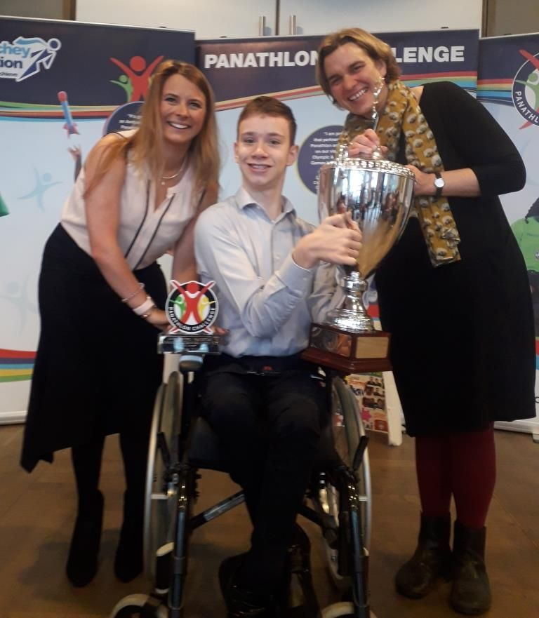 Gemma Juma, Jack Petchey Foundation, James Hillier, and Paralympian Liz Thomson