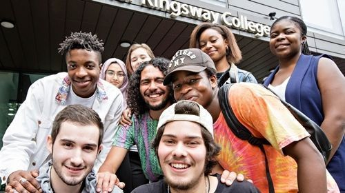 Westminster Kingsway College students celebrate