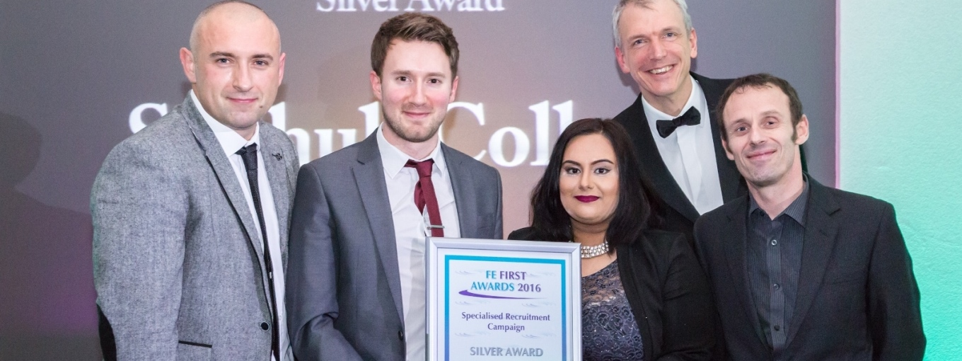 Solihull College and University Centre, Silver, FE First Awards 2016, College Marketing Network