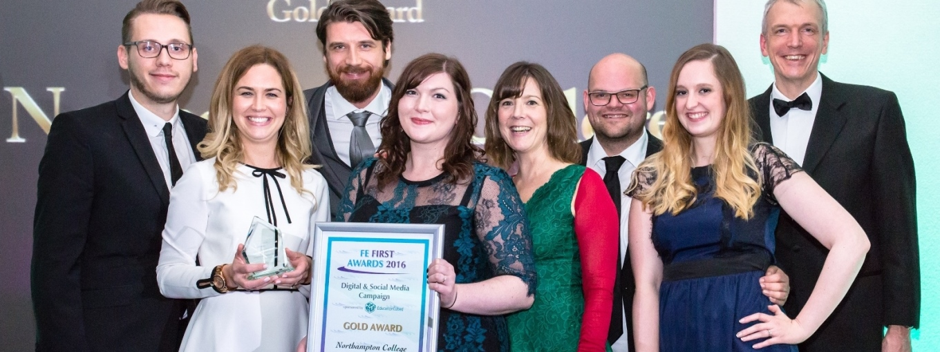 Northampton College, Digital & Social Media Campaign, Gold, FE First Awards 2016, College Marketing Network